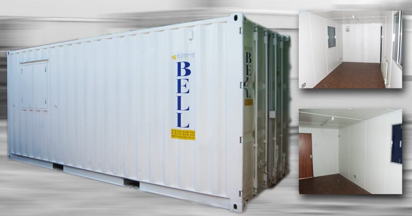 Bell Container hire fleet - container conversion