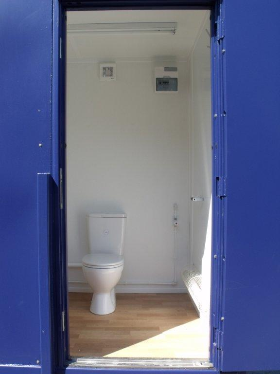3 berth portable toilet conversion
