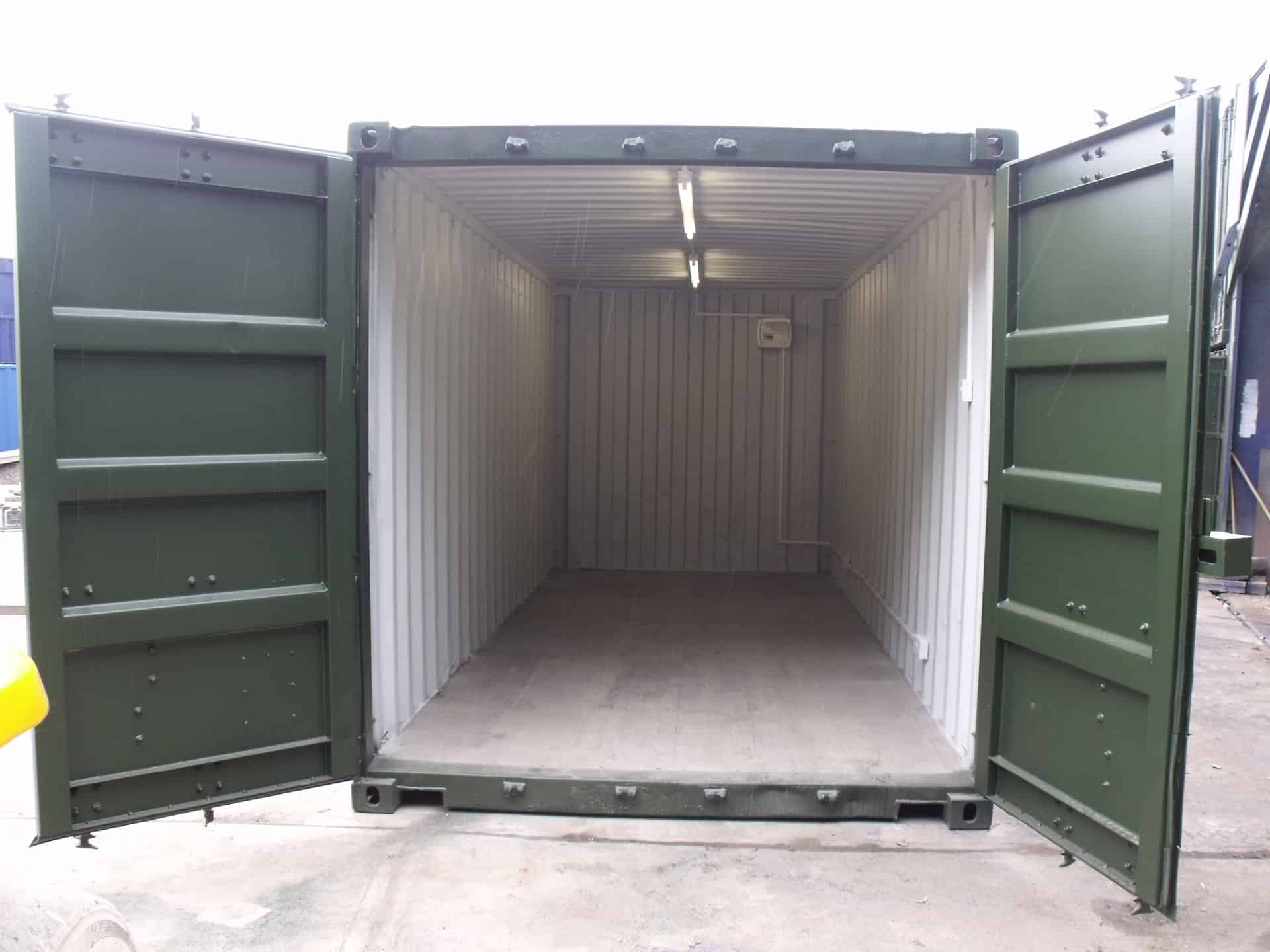 inside 20ft container conversion - electrics box
