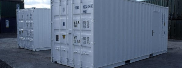 white 20ft shipping containers