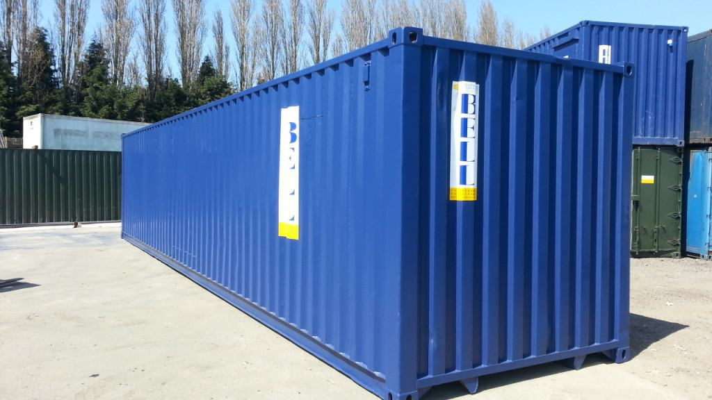 40ft container blue - Bell hire fleet