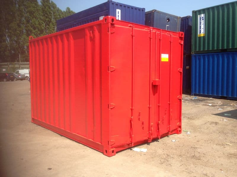 container modifications red 12ft