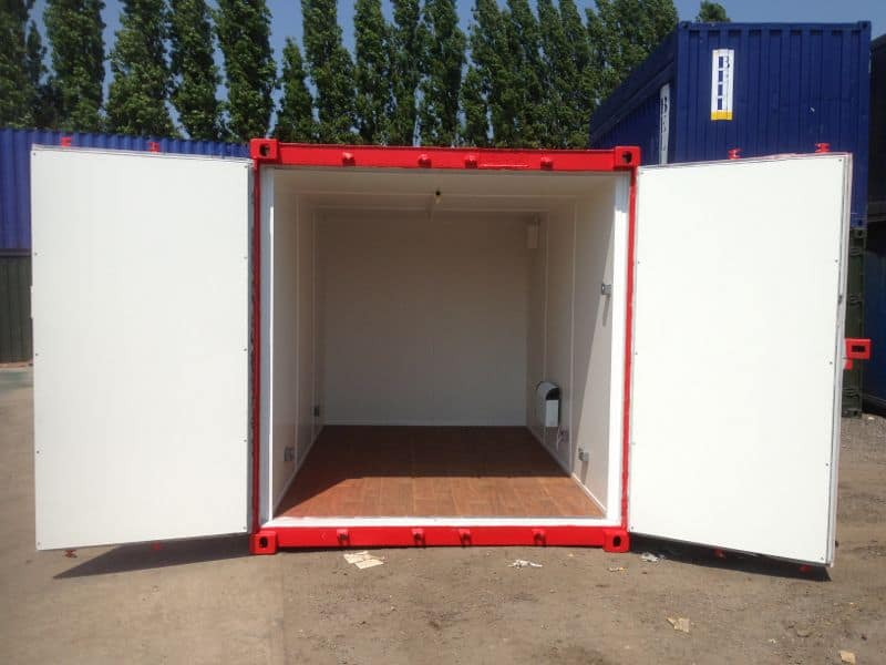shipping container conversions red 12ft
