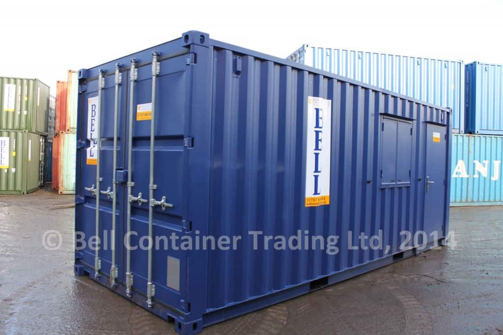 20ft office container London depot RAL 5013
