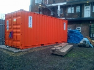 orange 20ft shipping container
