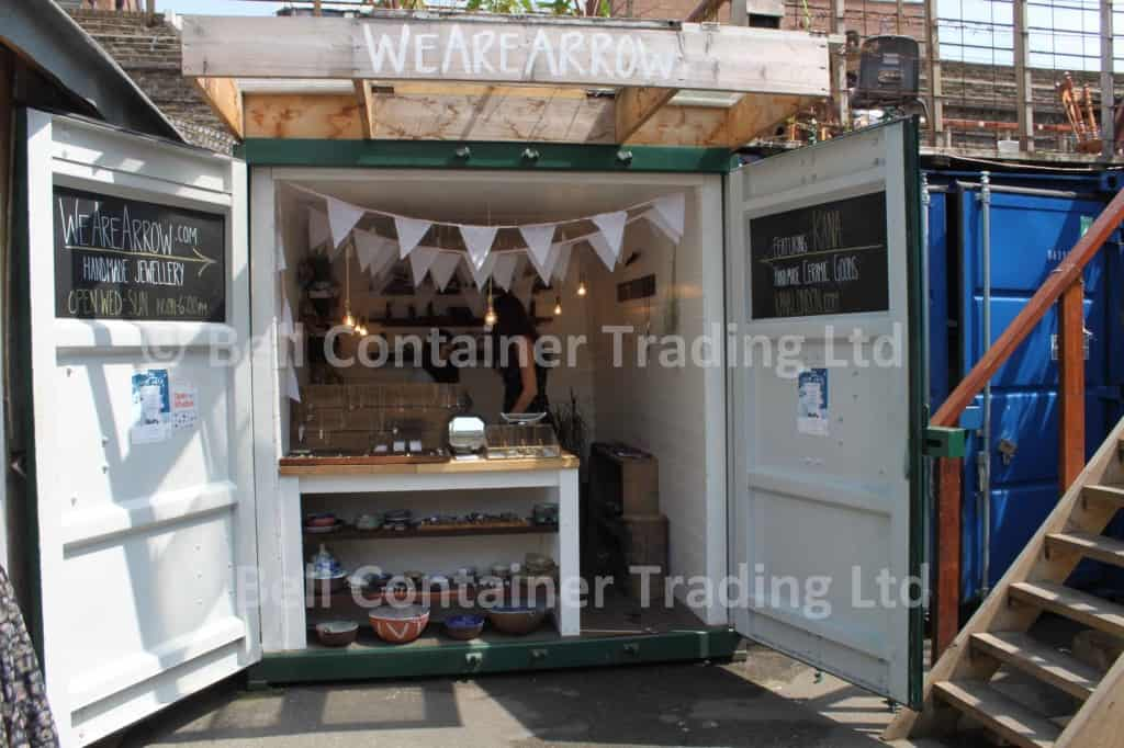 shipping container shop conversions