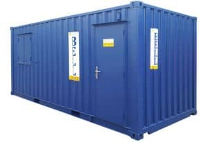 20ft office container personnel door side 2