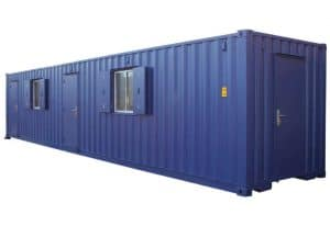 40ft office and changing room container conversion 1