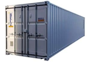40ft storage container one trip new unit white 033