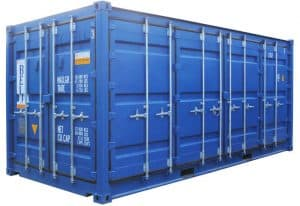 full side access 20ft container doors closed 027