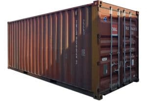 used 20ft x 8ft steel storage container 025