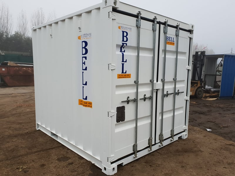 10 x 8 10ft 3m steel storage container from hire fleet white