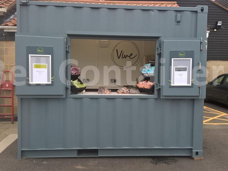 10 x 8 pop up cafe on site