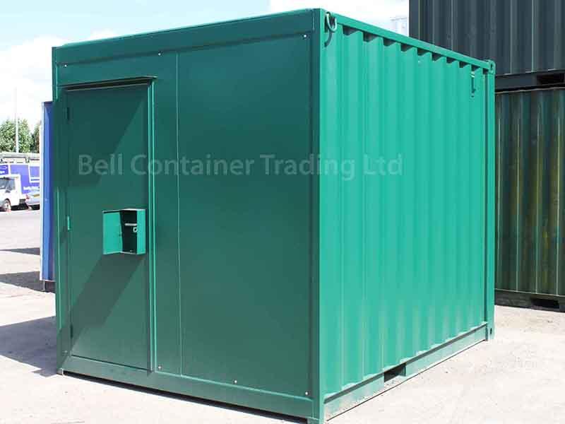 10 x 8 storage unit with personnel door inc. additional lockbox