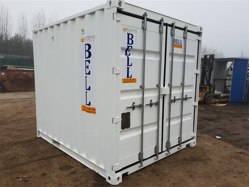 10ft 10 x 8 3m storage container externally painted white London depot