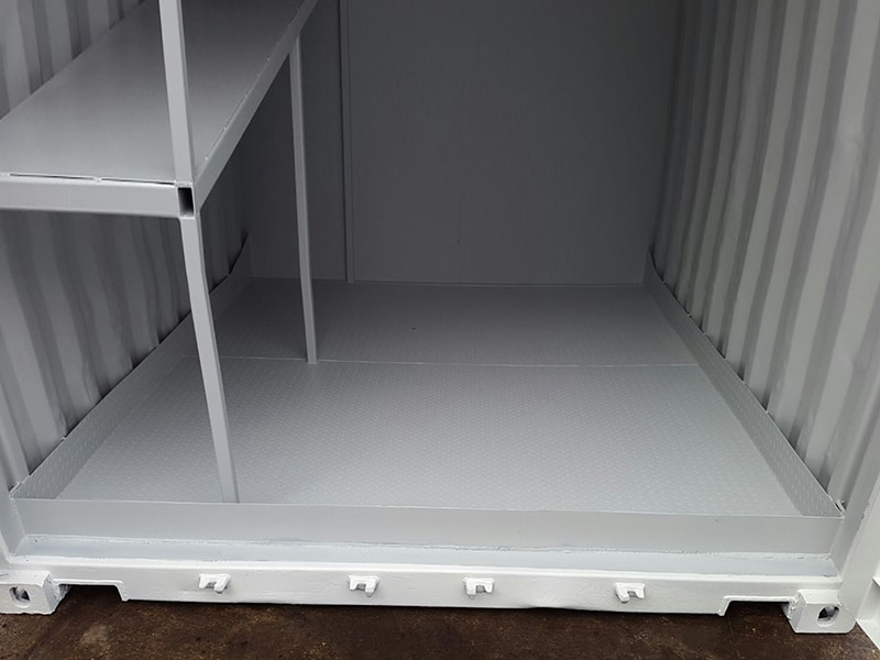 10ft container with bunded steel floor