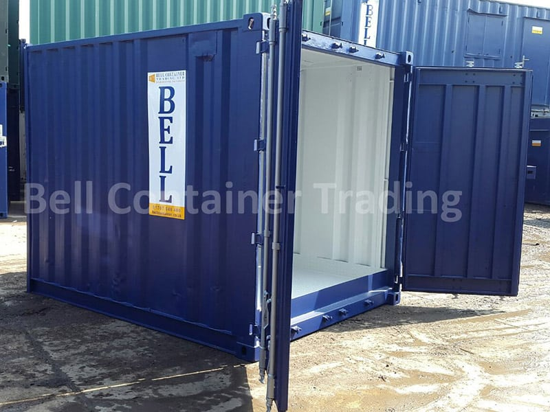 10ft storage container with steel flooring