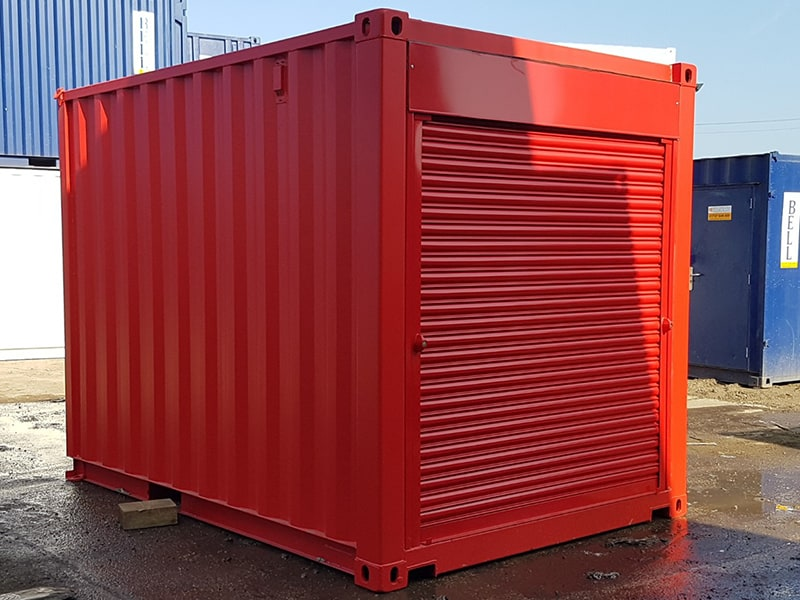 10ft x 8ft container with roller shutters at each 8 end