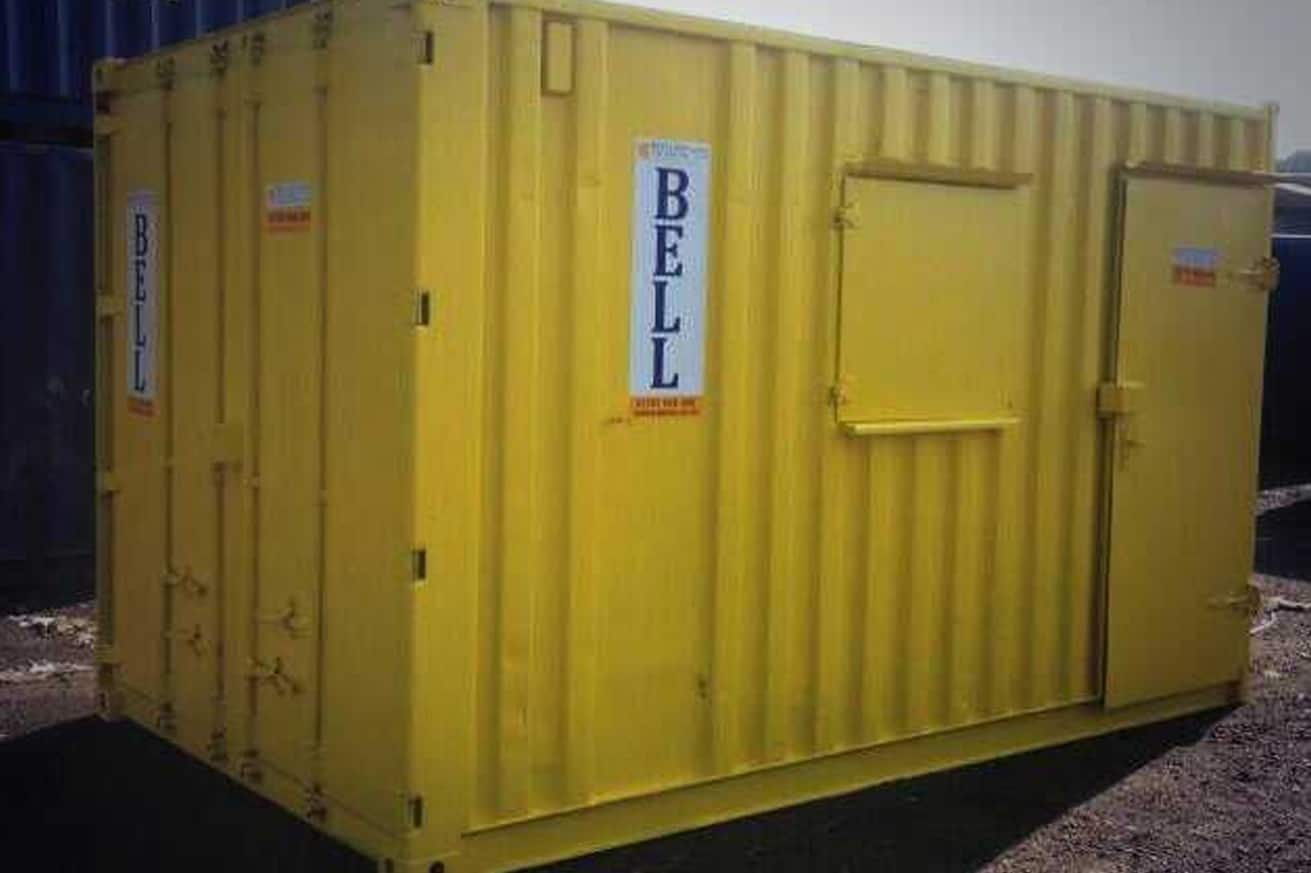14ft bespoke yellow office container
