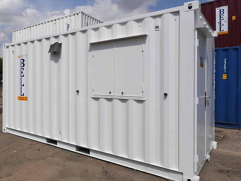 16ft x 8ft canteen unit from hire fleet
