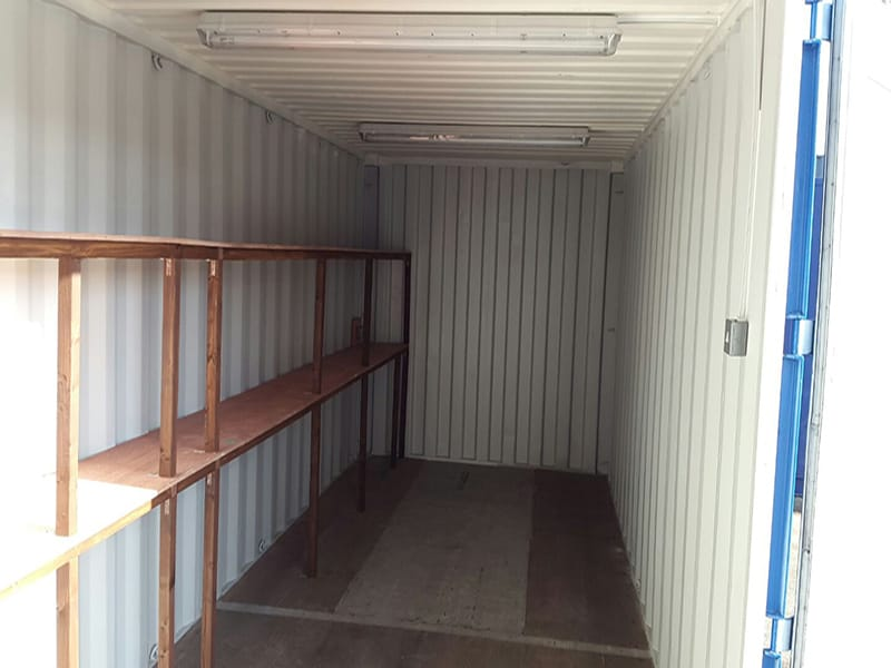 2 tier timber and ply racking and shelving units