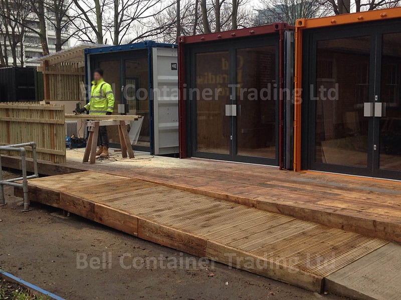 20ft containers units glazed doors AL framed