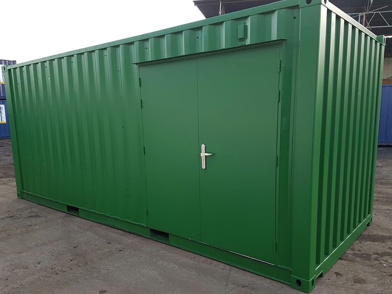 20 x 8 container with additional double personnel door