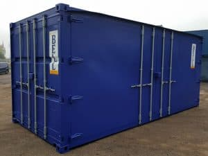 20 x 8 side access container doors closed
