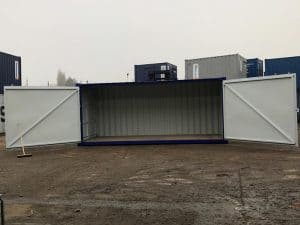 20 x 8 side access container doors open