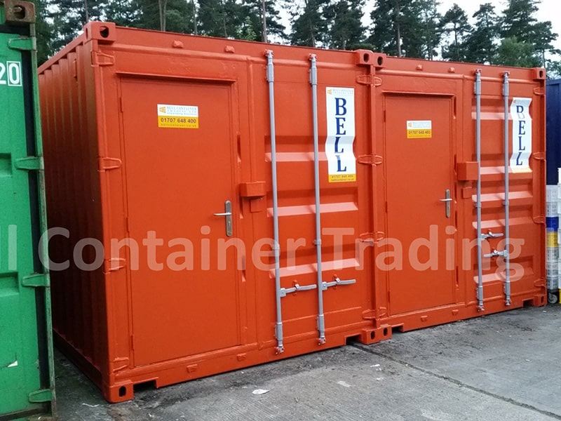 20 x 8 units with modified doors personnel access