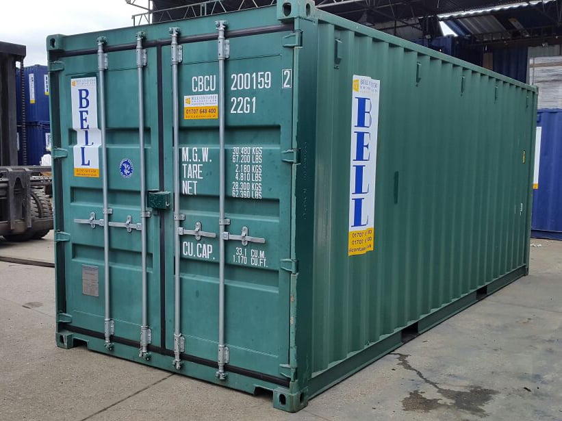 20ft container 20 x 8 steel unit from domestic hire fleet