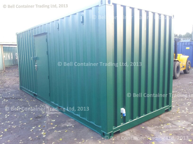 20ft container conversion exterior