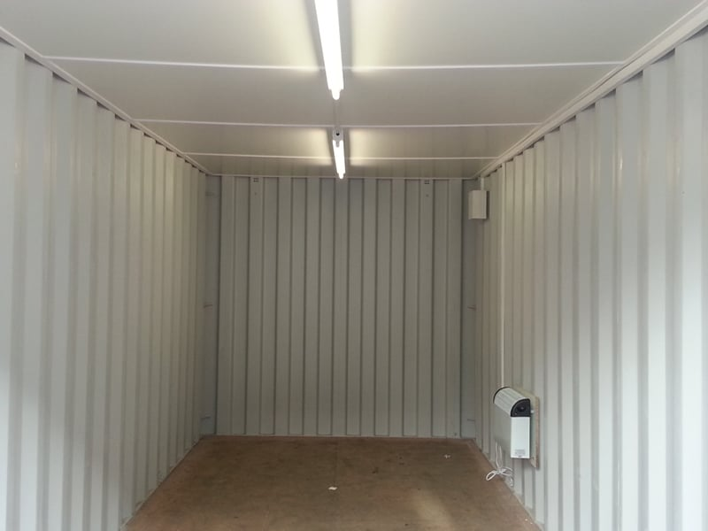 20ft container with ceiling lights fitted and electrics