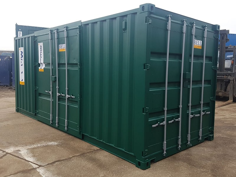 20ft container with end and retro fit side access doors