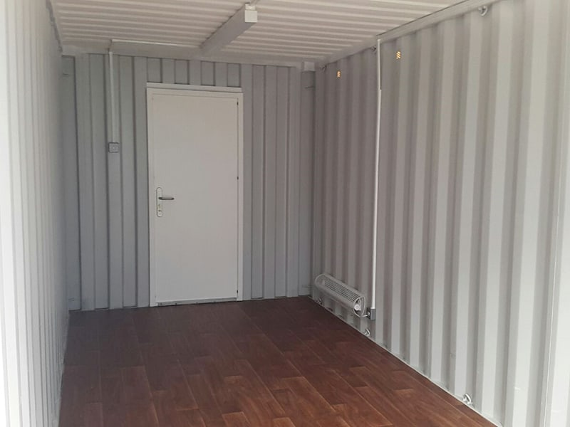 20ft container with personnel door and electrics lights and plug points