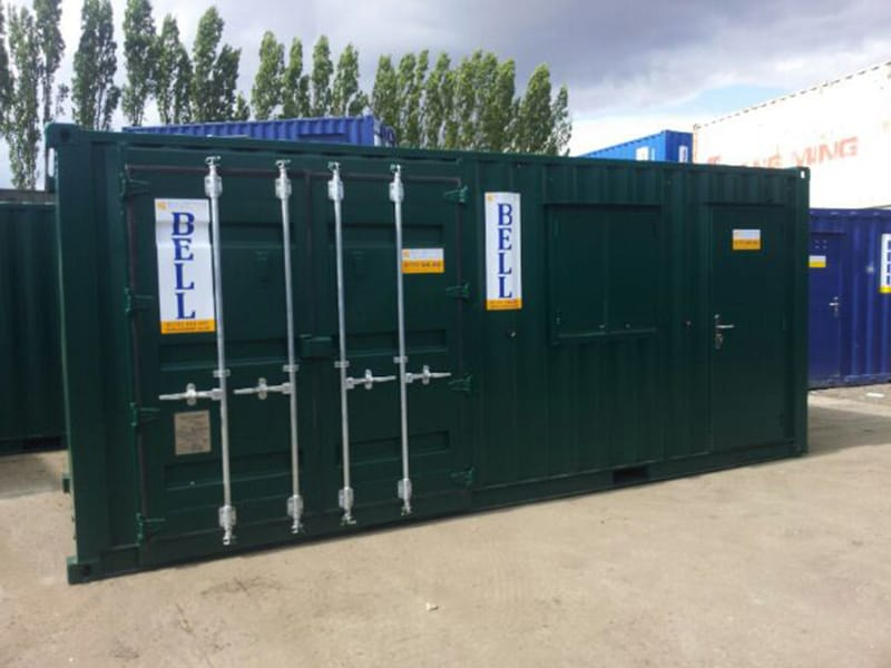 20ft container with retro fit container doors