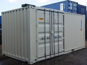 20ft container with retro fit side doors along 20ft