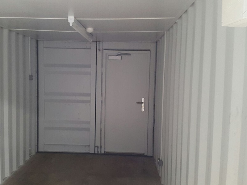 20ft container with retro fit steel personnel door