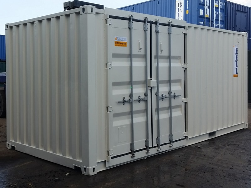 20ft container with side access doors fitted along 20ft side