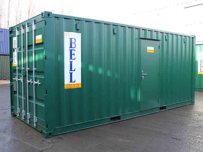 20ft container with steel personnel door