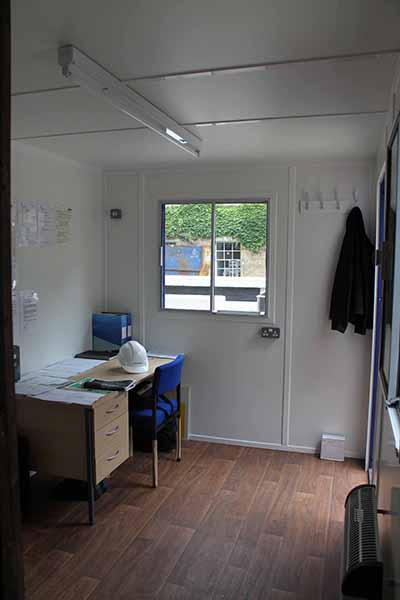 20ft office unit on site inside
