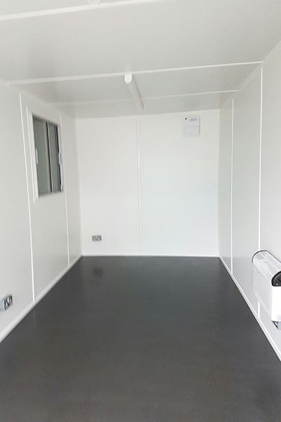 20ft open plan office with ultra grip black lino vinyl flooring
