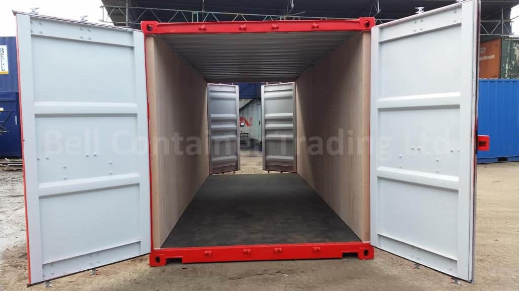 20ft ply lined tunnel container double doors shipping container