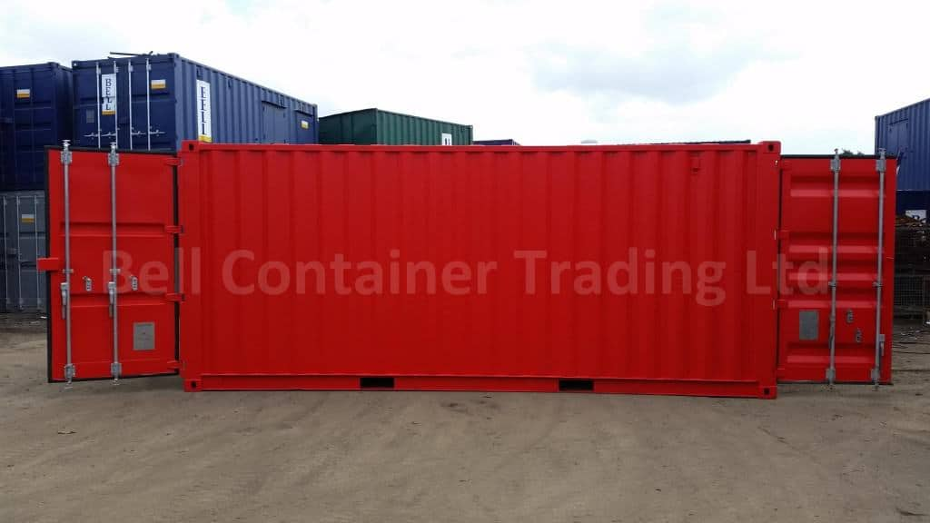 20ft tunnel container red RAL 3020