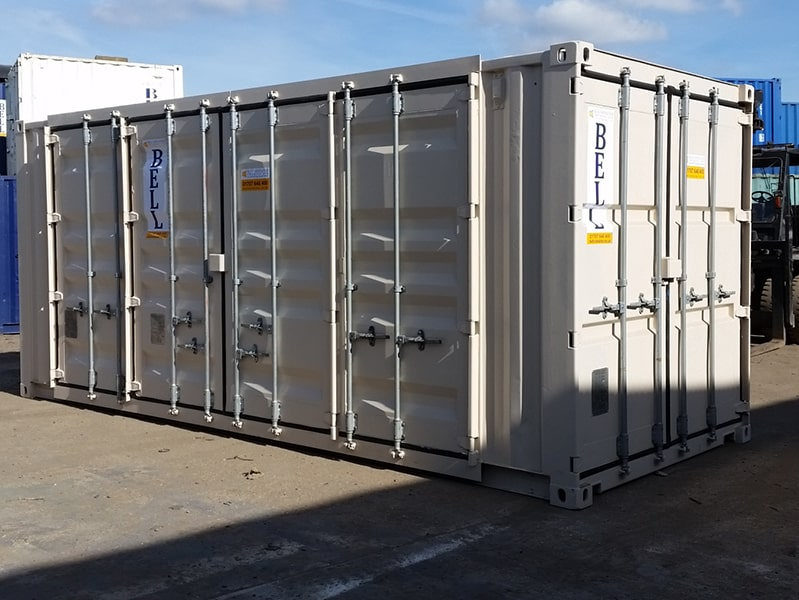 20ft x 8ft container with end and side access retro fit doors approx. 16