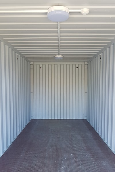 20ft x 8ft container with lino floor and electrics pack