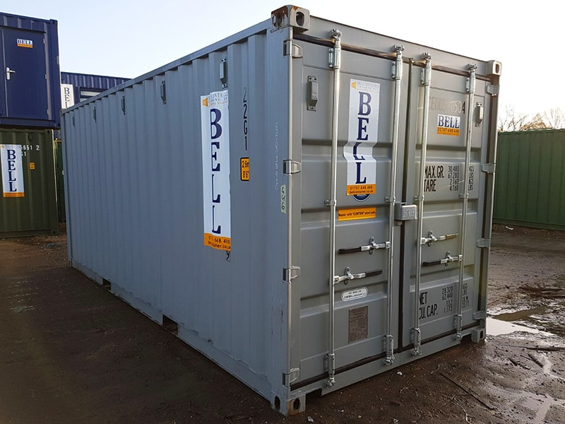 20ft x 8ft steel storage container one trip from our hire fleet