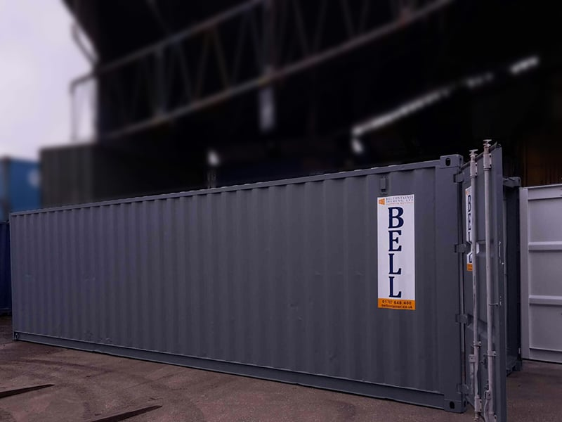 30ft Storage Container   Tunnel Conversion (black Colour) | Storage  Containers Hire Sales London