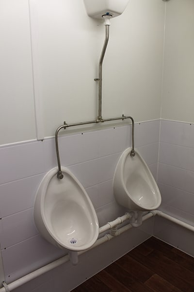 3+1 toilet block for hire inside urinal section