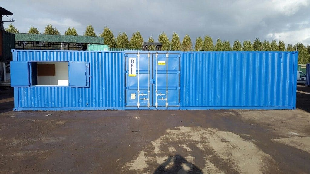 40 x 8 popup cafe and storage unit container conversion